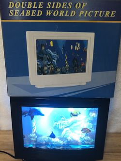 3D Electric Double Sided Sea Bed lamp. Moving Fish. for Sale in Fort Worth,  TX