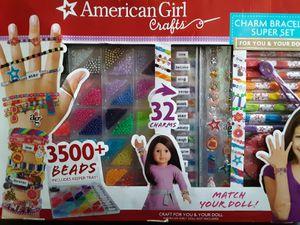 """American Girl"" charm bracelet Super set for Sale in Union, MS"