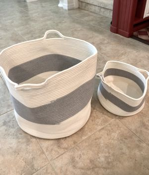 2 pieces laundry basket or Kids Toys bag for Sale in Windermere, FL
