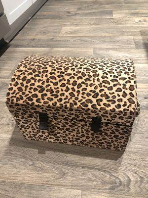 Leopard print storage container for Sale in Atlanta, GA