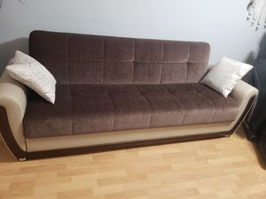 Sofa sleeper futon couch with storage for Sale in Brooklyn, NY