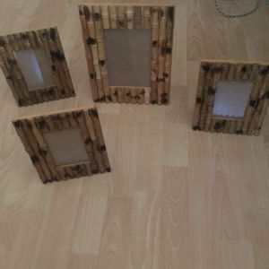 4 bamboo picture FRAME!!! All for $10 for Sale in Morrison, IL
