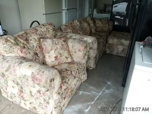 Couch, Chair and Ottoman for Sale in Fresno, CA