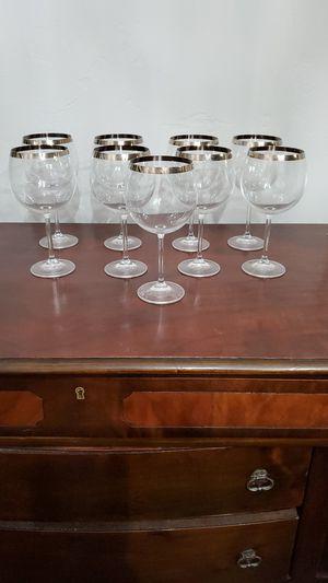Silver rim goblets 9 for Sale in Delta, CO