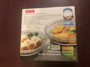 2pc tempered glass bakeware heat resistant for Sale in San Dimas, CA