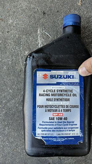 Suzuki 10w-40 oil 1quart for Sale in La Mesa, CA
