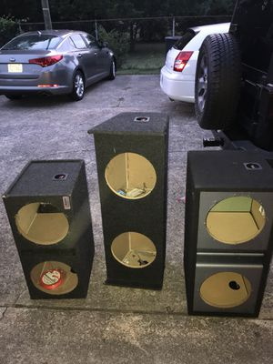 Subwoofer boxes for 12 inch subs for Sale in Nashville, TN
