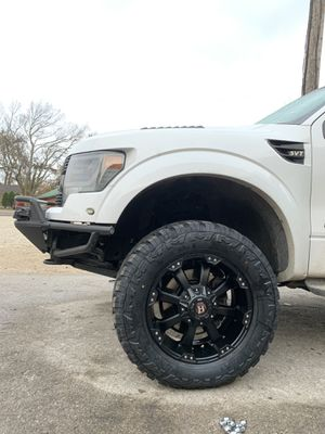 "New 20"" Black Ballistic Rims and New tires 20 Wheels 20s negros 6 lug will Fit Ford F150 , Chevy Silverado, GMC Sierra , Toyota Tacoma / 4Runner , Ni for Sale in Dallas, TX"