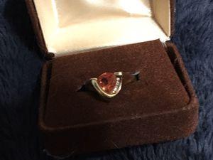 10kt gold diamond and corundum ring for Sale in Glen Burnie, MD