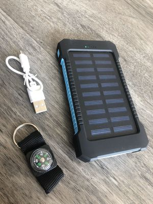 Solar 2-port phone charger power bank for Sale in Tampa, FL