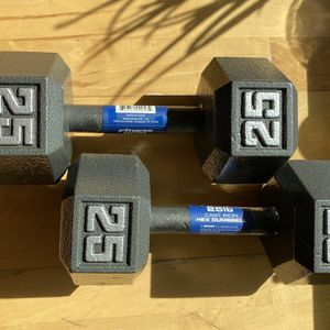 Cast Hex Dumbbells - 25LB Pair for Sale in Seattle, WA