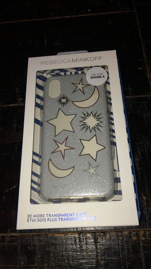 Rebecca Minkoff Be more Transparent Case for iPhone X - XS Glitter Galaxy New 🖤 for Sale in Los Alamitos, CA