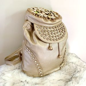 Golden Embellished Backpack Purse Women's Bag for Sale in Lawndale, CA