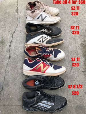Baseball cleats equipment gloves bats new balance rev lite adidas metal cleats for Sale in Los Angeles, CA