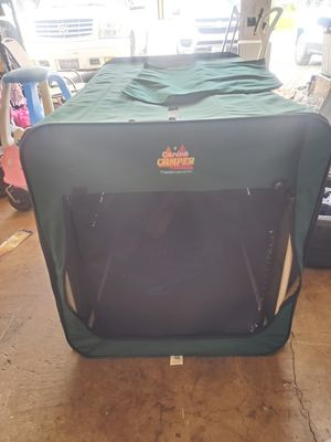 Dog foldable camping crate for Sale in Sugar Grove, IL