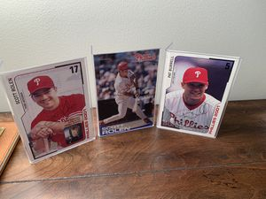 Autographed Pictures - Phillies Scott Rolen and Pat Burrell for Sale in Huntersville, NC