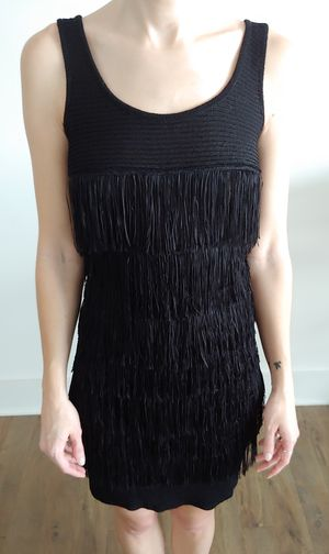 Chelsea and Violet Black Fringe Dress NWT for Sale in Washington, DC