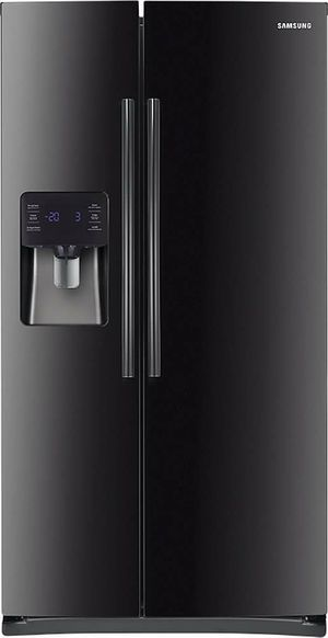"SAMSUNG 24.5 cu ft / 36"" Side by Side Refrigerator in High Gloss Black - Model: RS25H5111BC for Sale in Yonkers, NY"