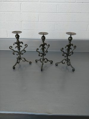 3 metal candle holders for Sale in Phoenix, AZ