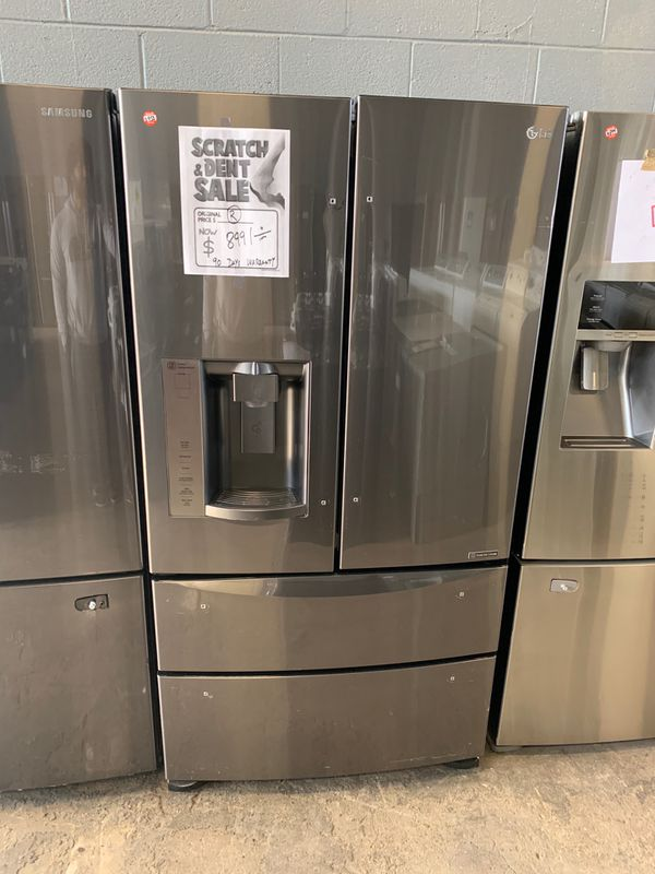 36by69 NEW LG FRENCH DOOR FRIDGE BLACK STAINLESS STEEL WITH WARRANTY