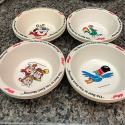 Set Of 8 Kellogg's Character Cereal Bowls Toucan Sam Tony The Tiger Snap Pop 95 for Sale in Concord,  CA