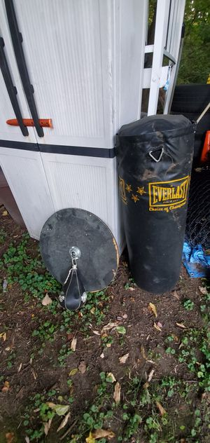 Punching bag and speed bag for Sale in Dracut, MA