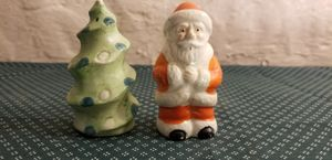 Vintage Santa Claus In Orange And Holiday Tree Christmas Salt and Pepper Shakers for Sale in St. Louis, MO