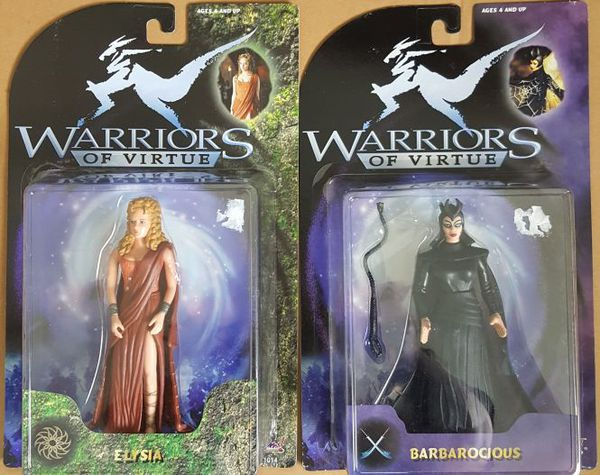 Entire Set + 2 of Warriors of Virtue Action Figures