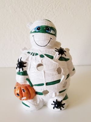 Ganz Mummy Tea Light Candle Holder Halloween Decorations Decor for Sale in Colton, CA