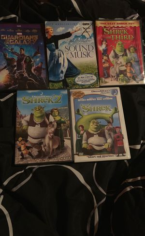 Movies (Guardians is the Galaxy, Shrek, The Sound of Music) for Sale in Hemet, CA