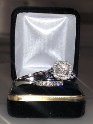 Wedding trio set. 14k white gold with Diamonds for Sale in Raleigh, NC