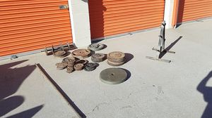 Weights and weight rack. All steel for Sale in Fontana, CA