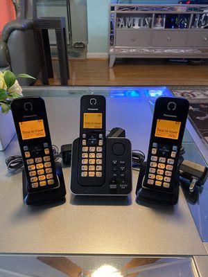 3pc Panasonic Home Phone System $40 OBO for Sale in Fairfax, VA