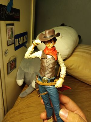 Cowboy Luffy one piece anime prize figure- no box! for Sale in Chicago, IL