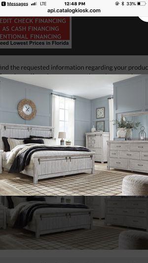New Ashley Barn door Style Bedroom Set. for Sale in Tampa, FL