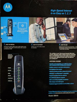 Motorola SURFboard SB5101 cable modem for Sale in Roanoke, TX