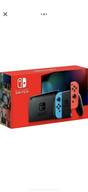 Nintendo Switch 32GB Console Neon Red & Blue Joy-con - Newest Version - in hand for Sale in Peoria, IL