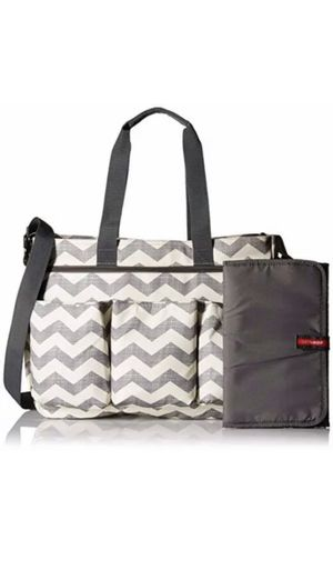 Skip Hop Duo Double Signature Carry All Chevron Diaper Bag Tote Multipockets NEW for Sale in Goodyear, AZ