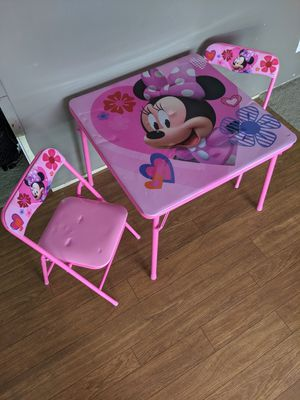 Minnie mouse girls pink table with padded top for Sale in Columbia, SC