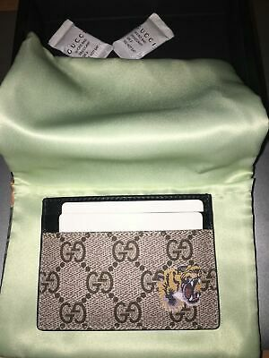 NEW! Authentic Gucci GG Tiger Cardholder/Wallet (COMES WITH ORIGINAL PACKAGING) [Retails for $350] for Sale in New Haven, CT