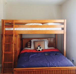 Bunk bed including twin mattress for Sale in UPPR MARLBORO, MD