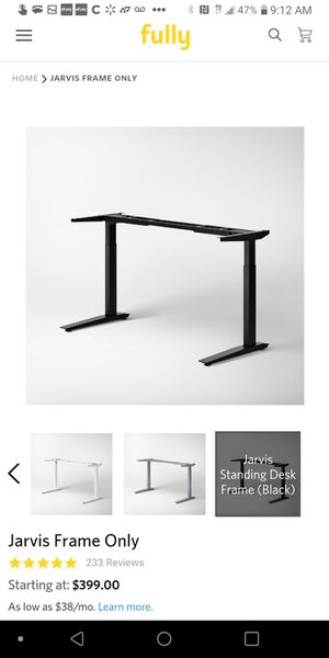 Jarvis desk frame fully black name own price message me your offer for Sale in San Francisco, CA