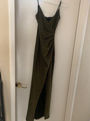 Green Gold sparkle gala dress for Sale in Doral, FL