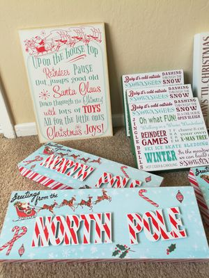 Assorted Holiday Signs Home Decor Lot for Sale in Sunnyvale, CA