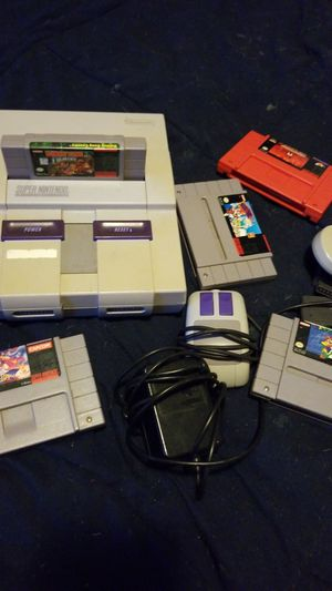 SNES with games for Sale in Seattle, WA