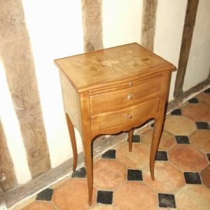 Cherry nightstand with marquetry, Louis XV style From Normandy, France for Sale in Port Charlotte, FL