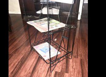 """Newspaper & Magazine Metal Rack 29""""tall 17"""" Wide & 12 1/2 Deep. Pick Up in Van Nuys CA for Sale in Los Angeles,  CA"""