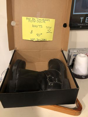 Harley Davidson motorcycle boots for Sale in Prosperity, PA