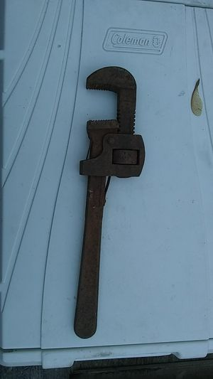 Old pipe wrench for Sale in New Salem, IL
