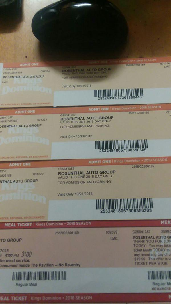 3 Kings Dominion fright fest tickets